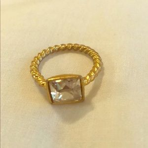 """Diamond"" Twist Band Ring"